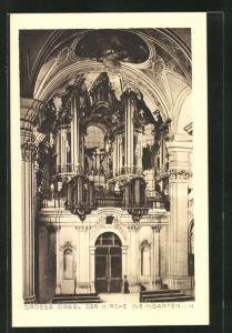 AK Weingarten i. W., Grosse Orgel der Kirche