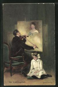 Künstler-AK Clarence F. Underwood: Ihr Lieblingslied