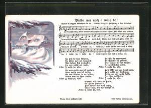 Lied-AK Anton Günther Nr. 19: Bleibn mer noch a wing do!
