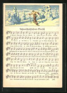 Lied-AK Anton Günther: Schneeschuhfahrer-Marsch