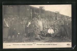 AK Prisonniers et blesses a Roanne, Kriegsgefangene