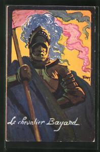 Künstler-AK Grenoble, Concours de Tir, Juin 1911, Le chevalier Bayard, Schützenverein