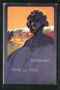 Künstler-AK Grenoble, Concours de Tir, Juin 1911, Reine des Alpes, Schützenverein