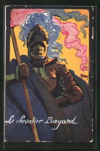 Künstler-AK Grenoble, Concours de tir, Juin 1911, Le chevalier Bayard, Ritter, Schützenverein