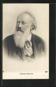 AK Komponist Johannes Brahms im Porträt