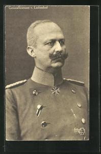 AK Generalleutnant Erich Ludendorff in Uniform mit Pour le Merite