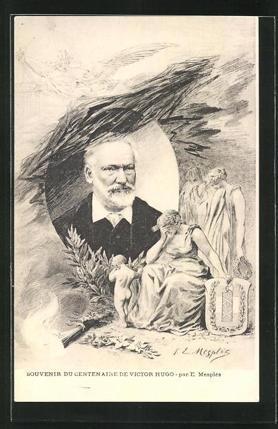 AK Souvenir du centenaire de Victor Hugo 0