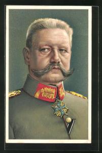 AK Porträt Paul von Hindenburg in Uniform mit Pour le Merite