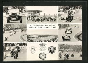 AK Hohenstein-Ernstthal, Sachsenring-Rennen, 50. Jahre Sachsenring, Oldtimer, Rennwagen, Karts, Motorräder