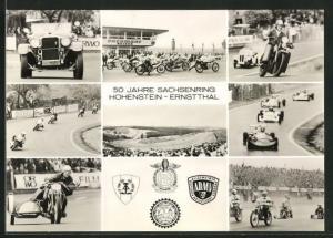 AK Hohenstein-Ernstthal, Sachsenring-Rennen, 50. Jahre Sachsenring, Oldtimer, Mototrräder, Formelautos
