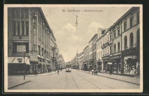 AK Mönchen Gladbach, Krefelderstrasse mit Strassenbahn