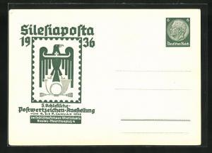 AK Ganzsache PP126C11: Breslau, 5. Schlesische Postwertzeichen-Ausstellung Silesiaposta 1936