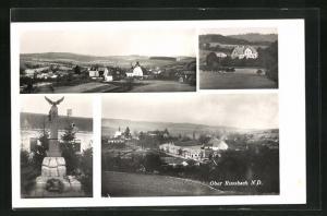 AK Oberrussbach, Kriegerdenkmal, verschiedene Ansichten aus dem Ort