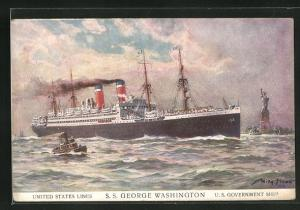 Künstler-AK Willy Stoewer: Passagierschiff S.S. George Washington, United States Lines