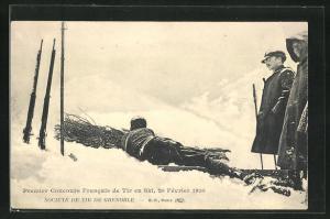 AK Grenoble, Premier Concours Francais de Tir en Ski 1910, Biathlon-Veranstaltung des Schützenvereins