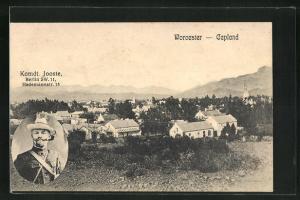 AK Worcester / Capland, Ortsansicht, Kommandant Jooste aus Berlin, Burenkrieg