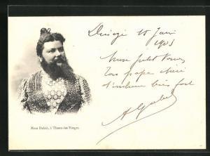 AK Madame Delait aus Thaon-les-Vosges mit imposantem Vollbart