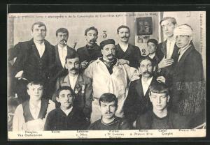 AK Courrières, Überlebende des Grubenunglücks von 1906