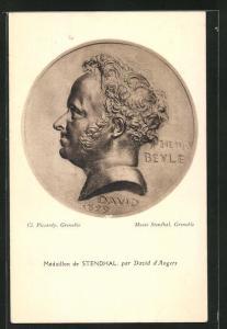 AK Médaillon de Stendhal von David d`Angers