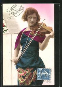 AK Vive Ste. Cécile, Geigerin, Violine