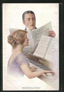 AK Herzensklänge, Pianistin und Sänger