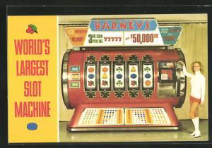 AK World`s largest slot machine, Glücksspielautomat und Dame