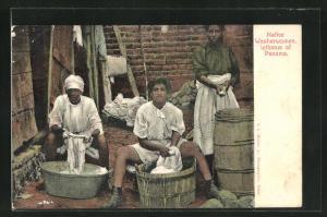 AK Isthmus of Panama, Native Washerwoman, Einheimische Waschfrauen