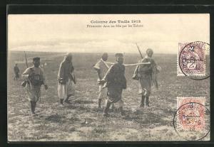 AK Colonne des Tadla 1913, Prisonnier dans un Silo par les Tabors