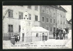 AK La Chaux-de-Fonds, Concours de Constructions de Neige, Organise par L`Impartial, Schneeplastik