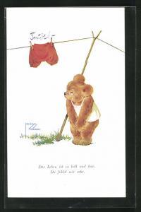 Künstler-AK Lawson Wood: Das Leben ist so kalt und leer..., Scherz, Teddybär