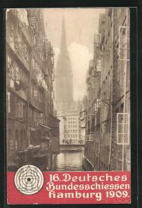 AK Hamburg, 16. Deutsches Bundesschiessen 1909