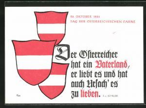 AK 26. Oktober 1964, Tag der Österreichischen Fahne