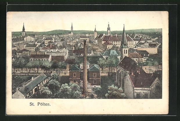 AK St. Pölten, Teilansicht der Stadt 0