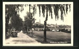 AK Waidhofen a. d. Thaya, Strassenpartie nahe des Ortseinganges