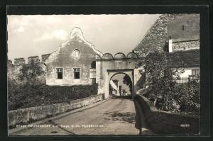 AK Stadt Drosendorf a. d. Thaya, Blick durch das Raabsertor