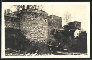 AK Stadt Drosendorf a. d. Thaya, Stadtmauer mit Turm
