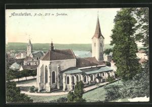 AK Amstetten, Blick auf die Kirche