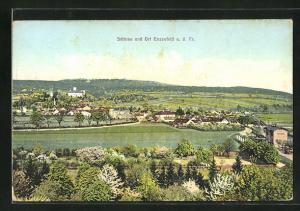AK Enzesfeld a. d. Tr., Panoramablick mit Schloss
