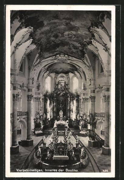 AK Staffelstein, Vierzehnheiligen, Inneres der Basilika 0