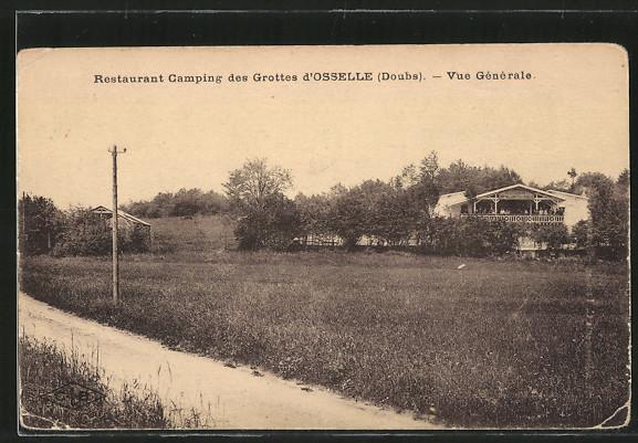 AK Osselle, Restaurant Camping des Grottes, Vue generale 0
