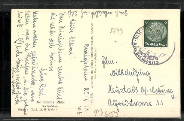AK Bischofsheim, Totalansicht 1