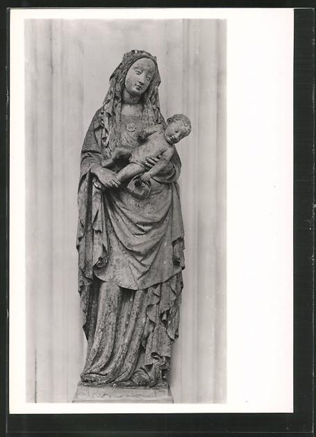 AK Lübeck, Darssow-Madonna, Statue der St. Marienkirche 0