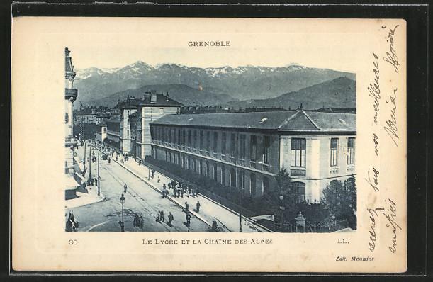 AK Grenoble, Le Lycée et la Chaîne des Alpes 0