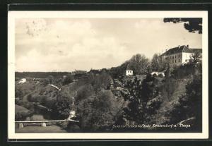 AK Drosendorf a. d. Thaya, Ortspartie im Gebirge