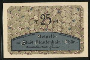 Notgeld Blankenhain in Thüringen, 25 Pfennig, Partie am Pfeifenteich
