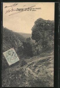 AK Mazamet, Les Gorges de l`Arnette, Le Rocher à la tête sphinx