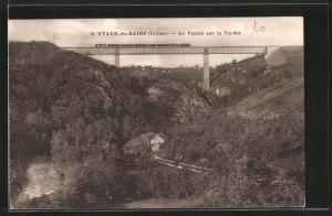 AK Evaux-les-Bains, Le Viaduc sur la Tardes