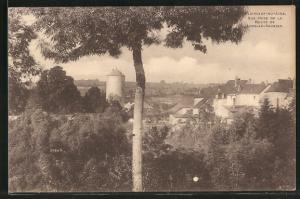 AK Clairvaux-du-Jura, vue prise de la Route de Lons-le-Saunier