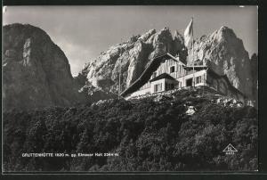 AK Gruttenhütte, Berghütte gg. Elmauer Halt