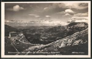 AK Watzmannhaus mit Blick auf Berchtesgaden u. Hohen Göll
